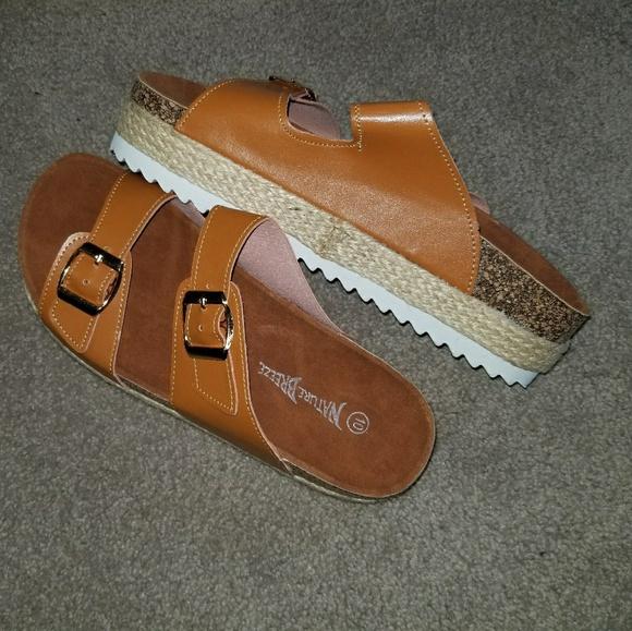 97b151bf360a Nature Breeze platform sandals size 10 NWOT. M 5aba9d16b7f72b1f081998a6